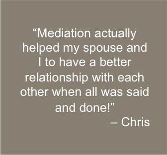 Mediation assists married couples considering divorce develop better relationships